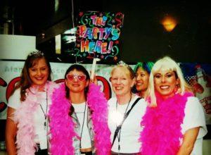 sfgirls in pink boas